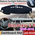 Для Land Rover Discovery 3 4 2005 ~ 2016 LR3 LR4 Противоскользящий коврик  коврик на приборную панель Зонт коврик для приборной панели автомобиля аксессуары ...