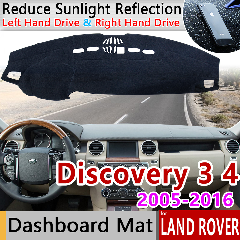 for Land Rover Discovery 3 4 2005 2016 LR3 LR4 Anti-Slip Mat Dashboard Cover Pad Sunshade Dashmat Car Accessories L319 2006 2007