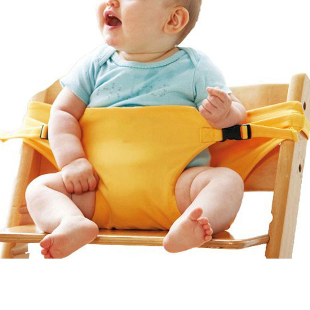 Baby Portable Seat Lunch Chair Seat Stretch Wrap Dining Chair Safety Belt Feeding Chair Harness Baby Booster Seat