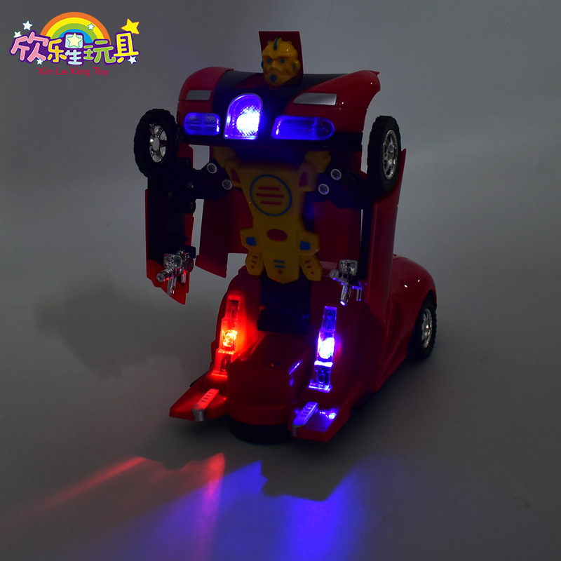 New Products Universal Deformation Robot Automatic Transformer Toy Car Universal Light Included Light Hot Selling Toy