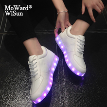 Size 27 43 Glowing LED Children Shoes with Lights for Kids Boy Girls Luminous Sneakers for