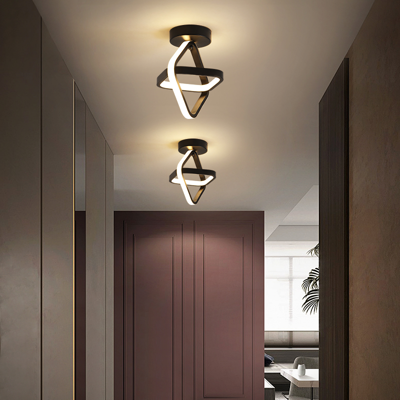 LED Corridor Ceiling Light Modern Circle Cloakroom Nordic Ins Wind Porch Balcony Light Home Lighting Ceiling Lamp Lampara Techo