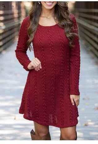 Novo inverno feminino camisola vestidos fino cinza o-pescoço longo de malha preto vestidos para mulher plus size 2xl quente salelx533