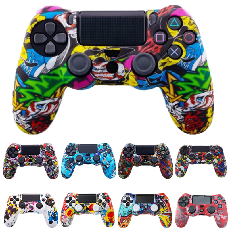 Soft Rubber Silicone Joystick Gamepad Grips Case Cover For Sony DualShock 4 PlayStation4 PS 4 Pro Slim Controller Case Accessory
