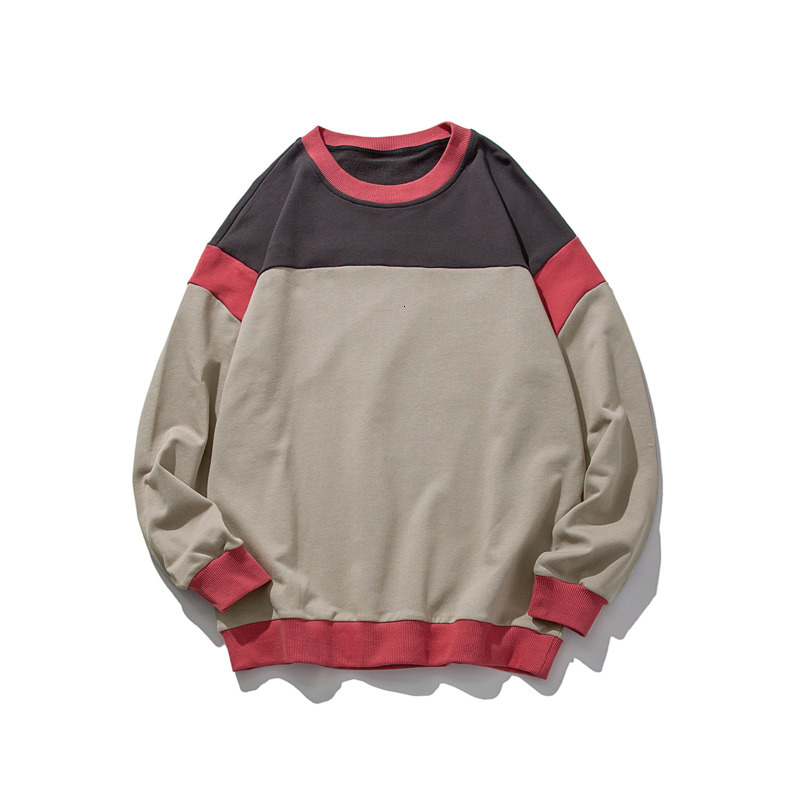 Autumn New Cotton Hoodies Men Fashion Contrast Color Casual Sweatshirt Streetwear Wild Hip Hop Loose Hoodie Hoody S-2XL