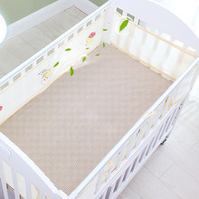 Crib Cartoon Portable Washable Collision-Proof Summer Baby Safety Printing Breathable Bed Bumper Nursery Mesh Half Around(China)
