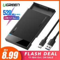 Ugreen HDD Fall 2,5 SATA zu USB 3.0 Adapter Festplatte Gehäuse für SSD Disk HDD Box Typ C 3,1 Fall HD Externe HDD Gehäuse