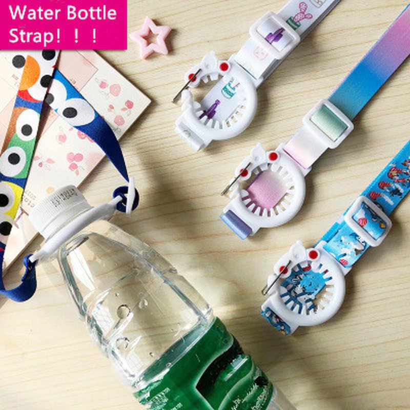 1PC moda butelka wody pasek plastikowa butelka na napoje klamry dziecko Kid pasek na ramię smycz butelka klamra akcesoria