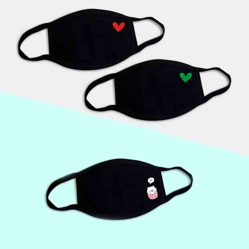 Korean Cartoon Anti Dust Mouth Mask Men Women Pop Anime Mask Fashion Cotton Reusable Mouth Face Mask Unisex Washable Mouth Masks