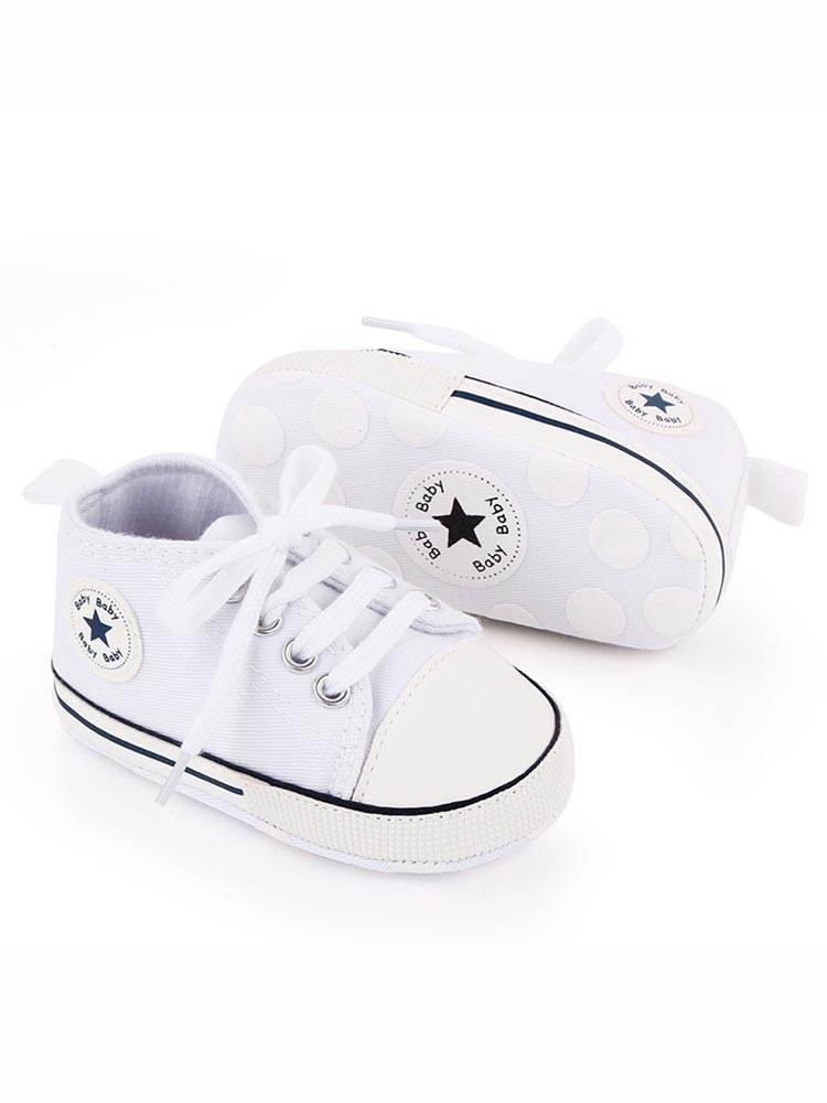 First Walkers Shoes Sports-Sneakers Star Baby Canvas Toddler Newborn Infant Baby-Boys-Girls