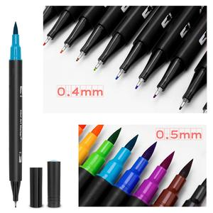 Image 5 - 48/60/72/100 Color Watercolor Markers for Drawing Painting Set Professional Water Coloring Brush Pen Set Dual Tip for School