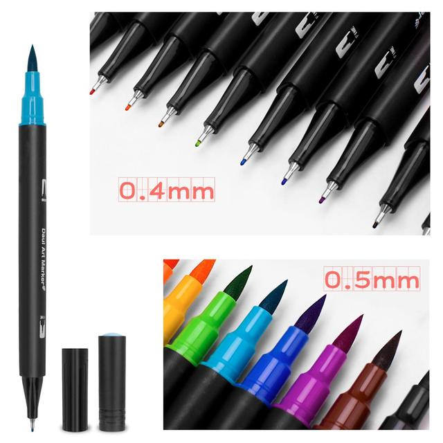 48/60/72/100 Color Watercolor Markers for Drawing Painting Set Professional Water Coloring Brush Pen Set Dual Tip for School 4