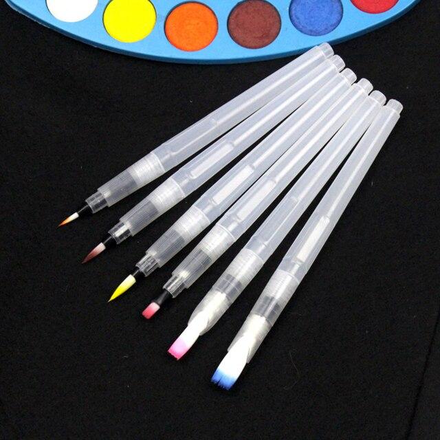 3 morceaux Marqueurs de pinceau portables peinture pinceau aquarelle pinceau aquarelle doux stylo police artistique étudiants papeterie 8