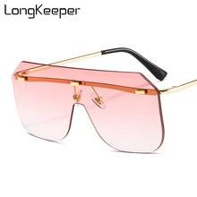 Новые модные негабаритные солнцезащитные очки для женщин 2020