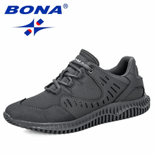 BONA 2019 חדש מעצבי גברים פרה פיצול נעליים יומיומיות איש חיצוני הליכה סניקרס Tenis Masculino zapatillas Hombre זכר טרנדי