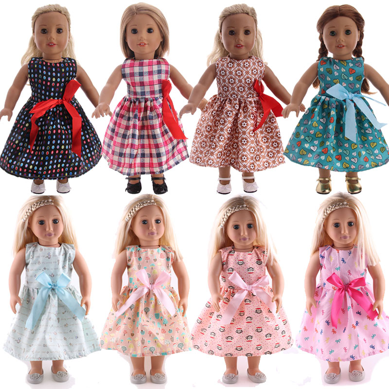 Doll 14 Styles Bow Princess Skirt For 18 Inch American&43 Cm Born Baby Doll Clothes Accessories,Generation Birthday Girl's Toy
