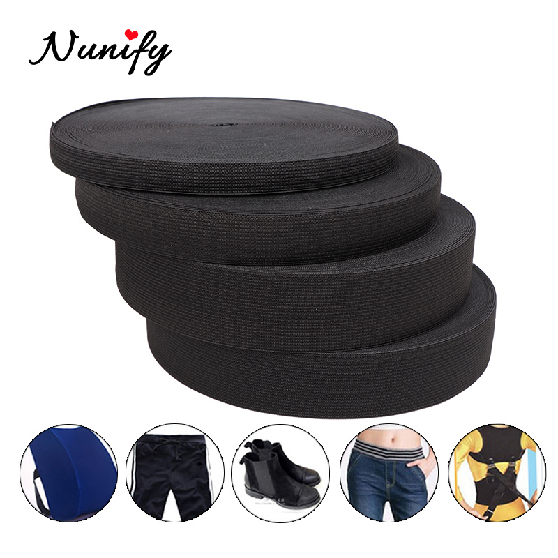 Nunify 4000Cm 1.5-4Cm Black Elastic Band Spandex Belt Trim Sewing/Ribbon Clothes Flex Sewing Material For Shorts Skirt Trouse