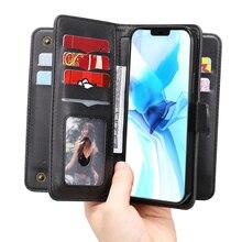 Flip Wallet Case Voor Samsung Galaxy A21 A21S A31 A41 A51 A71 A01 A11 10 M11 M51 M31 A50 Kaarten strap Houder Lederen Telefoon Cover