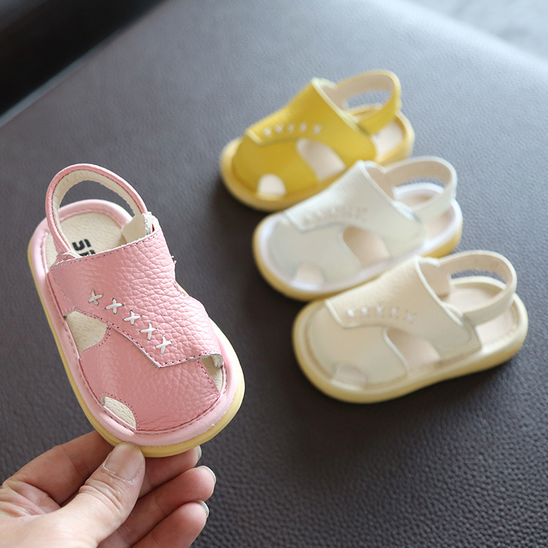 Summer Infant Toddler Sandals Baby Girls Boys Casual Sandals Soft Bottom Comfortable Non-slip Shoes Kids Leather Sandals