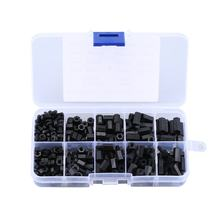 300PCS Black M3 Nylon Standoff Spacers Male Female Screw Hex Screws Nuts Repair Kits for Electronics Motherboard Fixed(China)