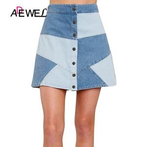 Image 2 - ADEWEL Sexy High Waist Skirt Denim Bodycon Long Skirt Office Ladies Wear Women Casual Elegant Pencil Skirt Party Denim Skirt