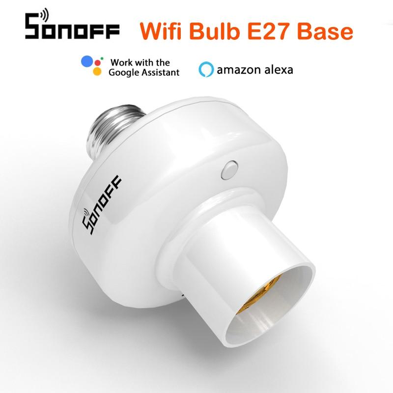 SONOFF Slampher R2 E27 умный WiFi светильник держатель лампы Переключатель 433 МГц RF беспроводная домашняя Автоматизация совместима с Alexa Google Home