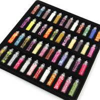 Encantos lizun slime acessórios kit slime 48 pçs lantejoulas/glitter filler lodo macio caixa brinquedos para crianças diy decoração brinquedos
