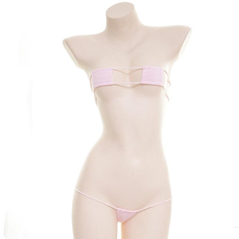 Sexy Lingerie Set Women Erotic See Through Cosplay Anime Uniform Kawaii Clothing Harajuku Japanese Micro Bikinis Cute Underwear