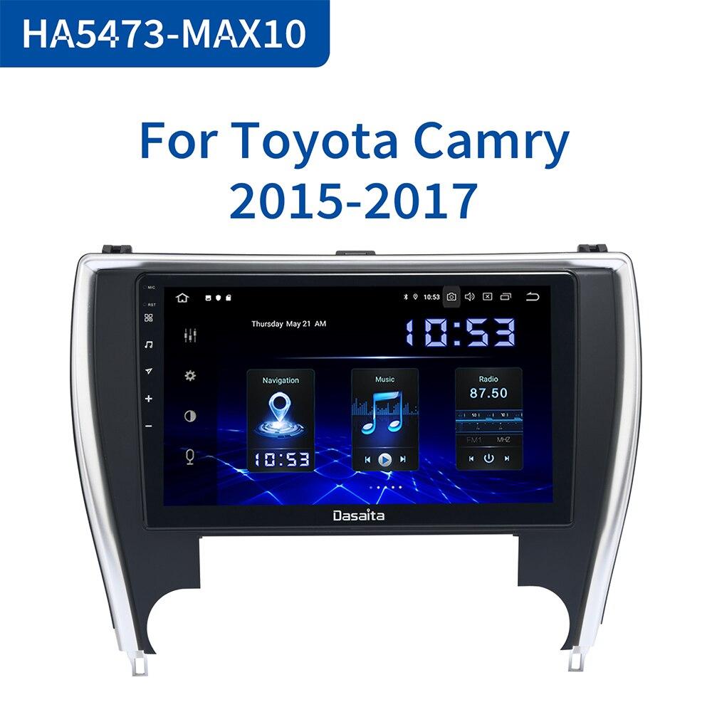 "Dasaita 10.2 ""Auto Radio 1 Din Android 10,0 für Toyota Camry UNS Version 2015 2016 2017 Bluetooth USB 64GB ROM"