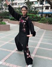 Customize Autumn&winter women embroidery plum blossom wushu kung fu uniforms Tai chi suits martial arts competition clothing(China)