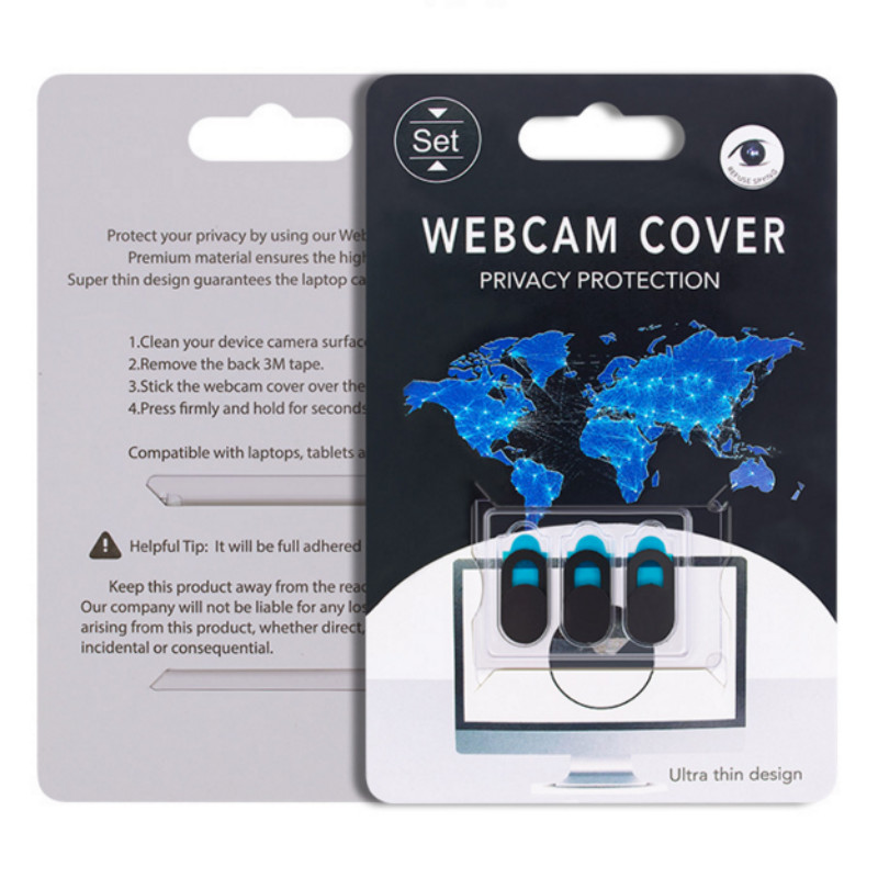Top Quality 3x Cache Webcam Sticker Cover Adhesive Camera Protect Phone Laptop Tablet Black White 3pcs/ Pack