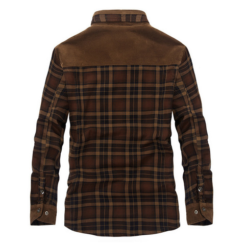 Brand Spring Winter Thick Plaid Shirt Men Long Sleeve Turn-down Collar Cotton Casual Wool Liner Warm Mens Shirts Chemise Homme Lahore