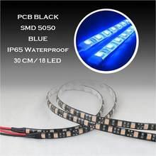 Bandes lumineuses LED flexibles et imperméables de 30 CM 12V 5050, lampes décoratives pour voitures, camions, bateau, moto, Automobiles