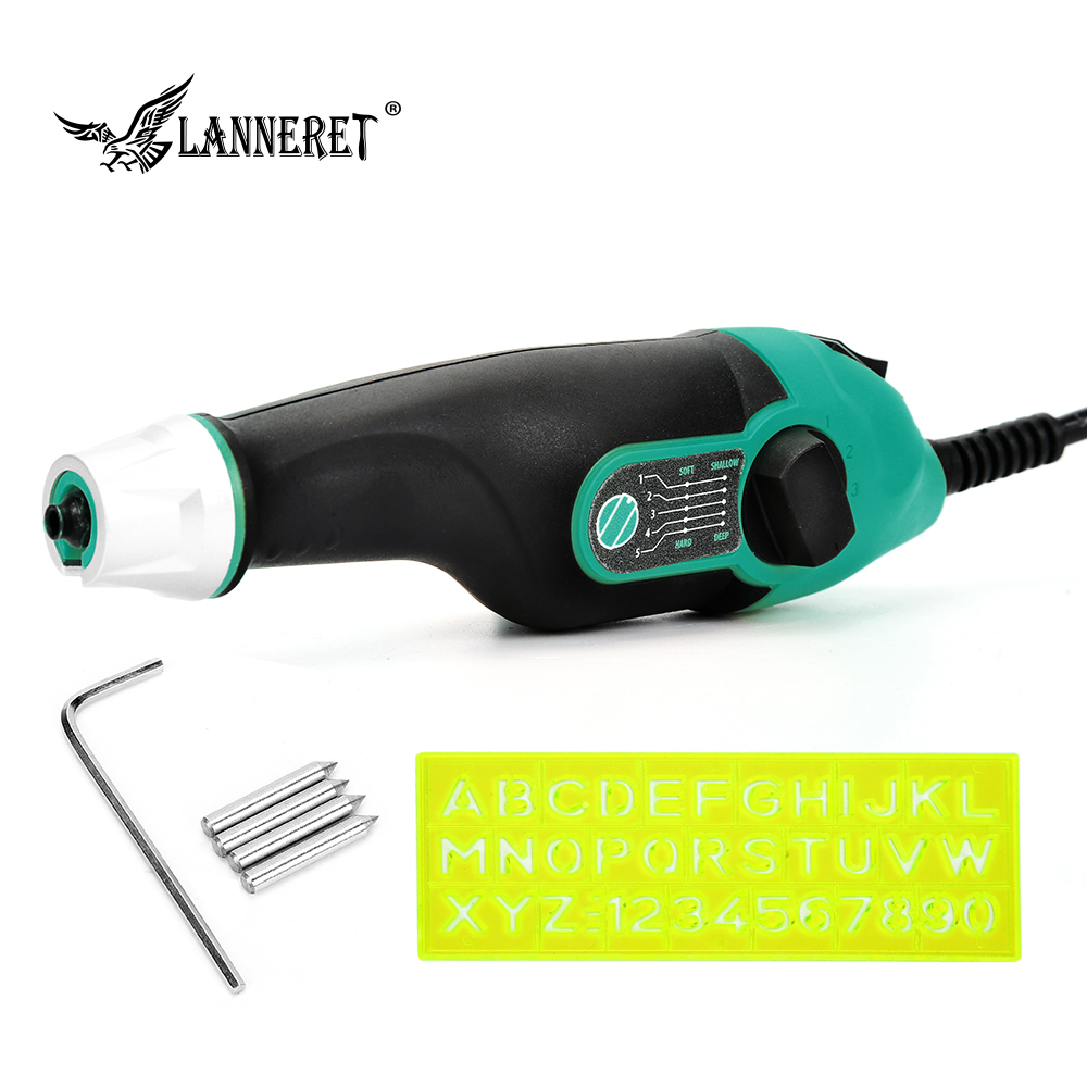 LANNERET 24W Variable Speed Rotary Tool Dremel Style Engraver Electric Mini Drill Grinder W/ 4PCS Tungsten Carbide Steel Bits