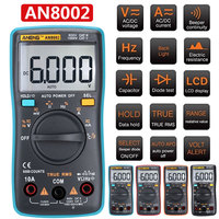 AN8002 Digital Multimeter Digital Voltmeter Multi Function Multimeter Home Tools Outdoor Instrumentation Durable Portable|Multimeters|Tools -