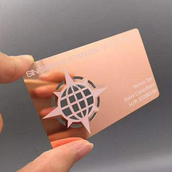 Hot Sales Metal Die Cuts Rose Gold business card