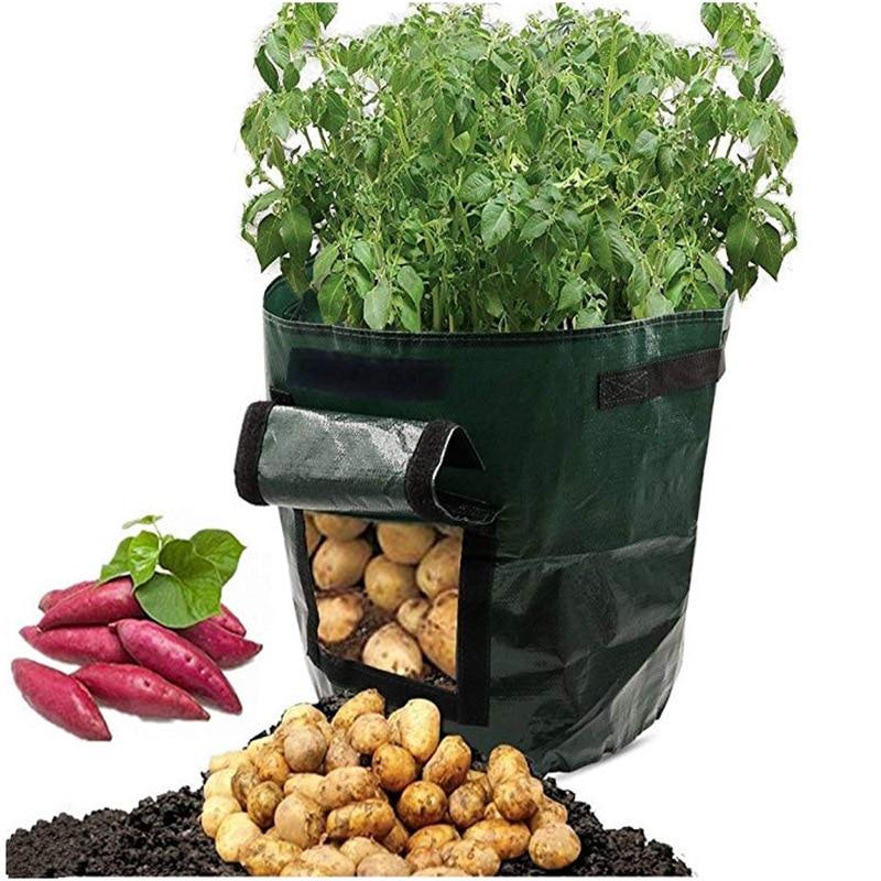 Potato Grow Container Bag DIY Planter PE Cloth Planting Vegetable Gardening Thicken Vegetable Pot Planting Grow Bag Garden Tool