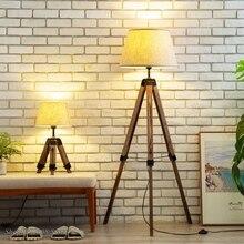Современные торшеры tripot, деревянный тканевый абажур, тренога, стоящая лампа для скандинавских гостиной, спальни, домашнего декора, осветительные приборы