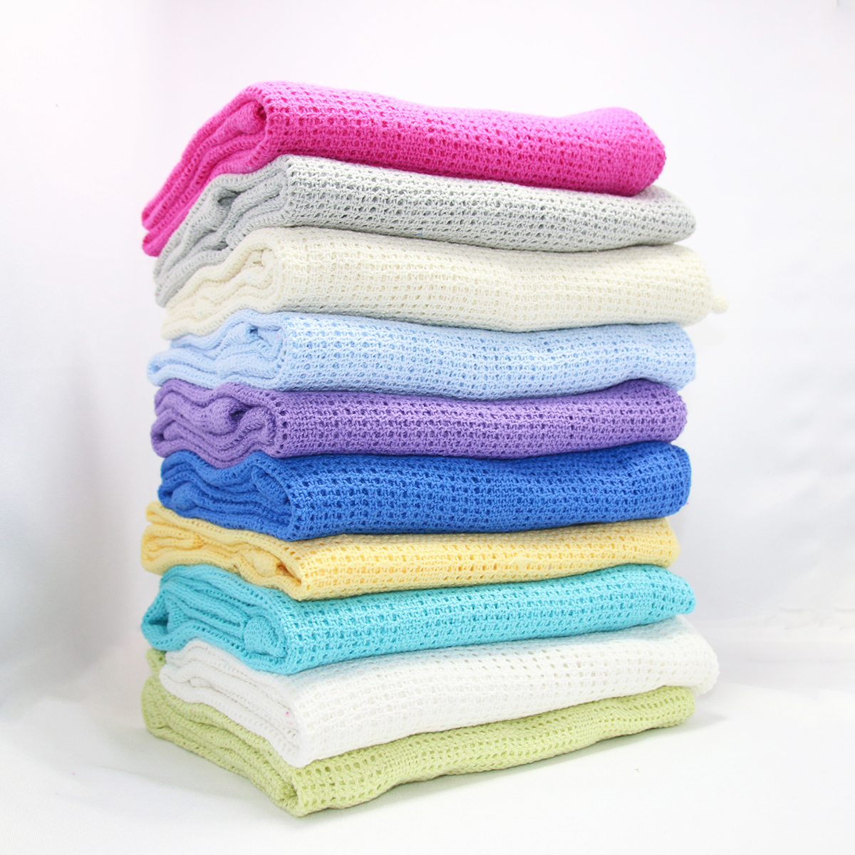 100% Cotton Candy Baby Blankets Infant Mesh Blanket Swaddling Wrap Feeding Towel Baby Air Conditioning Blanket Toy Mat 75*100cm