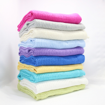 100% Cotton Candy Baby Blankets Infant Mesh Blanket Swaddling Wrap Feeding Towel Baby Air Conditioning Blanket Toy Mat 80*110cm