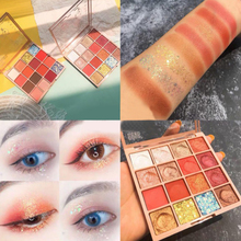 16 Colors Eyeshadow Palette Shimmer Matte Eyeshadow Palette Makeup Glitter Pigment Smoky Eyeshadow Palette focallure 18 colors shades eyeshadow highlighter glitter and matte smoky eyeshadow palette blush