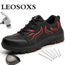 Women Shoes Work-Boots Ultra-Light New-Design Soft-Bottom Big-Size Men's And 48 LEOSOXS