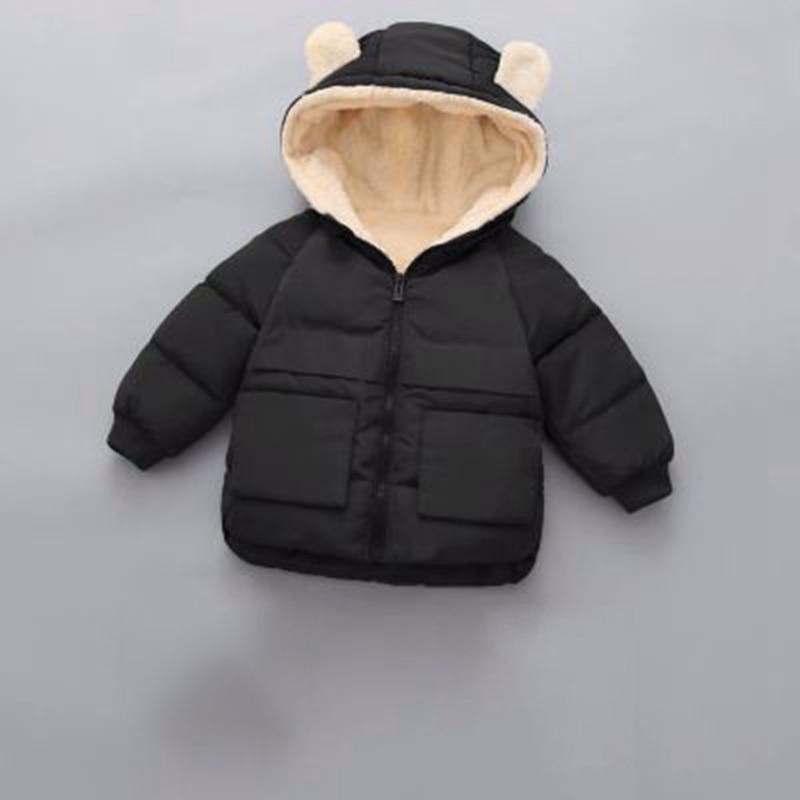 CROAL CHERIE Girls Coat Kids Winter Jacket For Boys Warm Fleece Boys Clothes Children Parkas Velvet Outerwear 90-130cm (12)