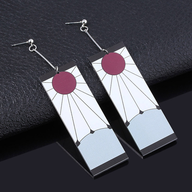 Acrylic Drop Earrings Demon Slayer Kimetsu no Yaiba Blade of Ghost Earings For Women Men Cosplay Jewelry Accessories Gift 1