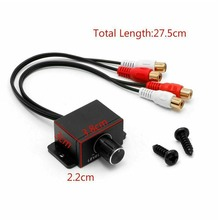 Adapter Audio-Amplifier Volume-Control Remote-Knob Boost Universal-Accessories Car-Bass