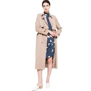 Image 5 - HDY Haoduoyi 2020 automne nouvelle haute couture marque femmes classique Double boutonnage imperméable Trench manteau imperméable affaires vêtements dextérieur