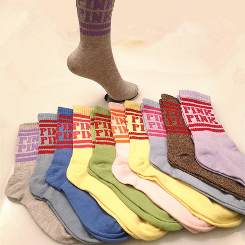 Women Sock Letter Harajuku Calcetines Vintage Skarpetki Damskie Streetwear Funny Socks Calcetines Mujer Meias Sokken