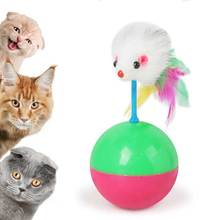 Portable and durable fun cat with tumbler mouse toy plastic catching ball supplies