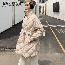White Duck Down Jacket Women Clothes 2019 Winter Coat Women Korean Stand Collar Puffer Jacket Women Warm Parka G8080 YY2174(China)