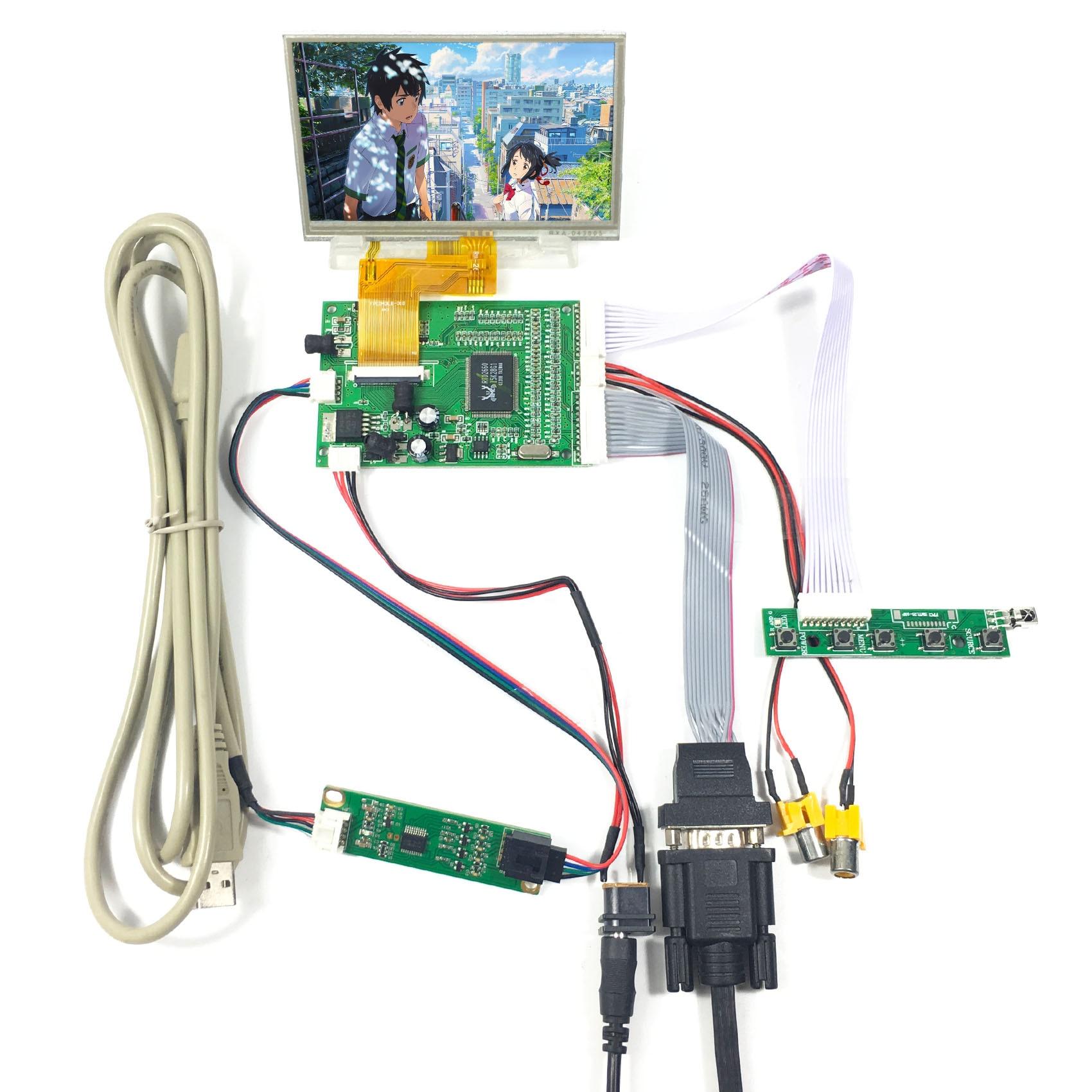 """4.3"""" VS043T-005AT 480X272 LCD Screen 4.3 inchVGA 2AV LCD Controller Board VS-TY40-V1"""